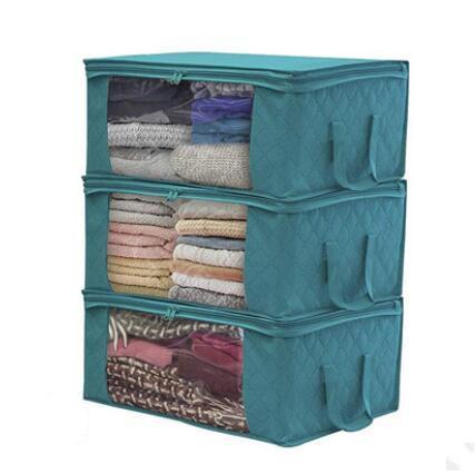 لحاف حقيبة التخزين طوي الغبار رطوبة الملابس أكياس صديقة للبيئة الرئيسية المنظمون سلة كبيرة زيبر النافذة التخزين حقيبة يد ZYQ442