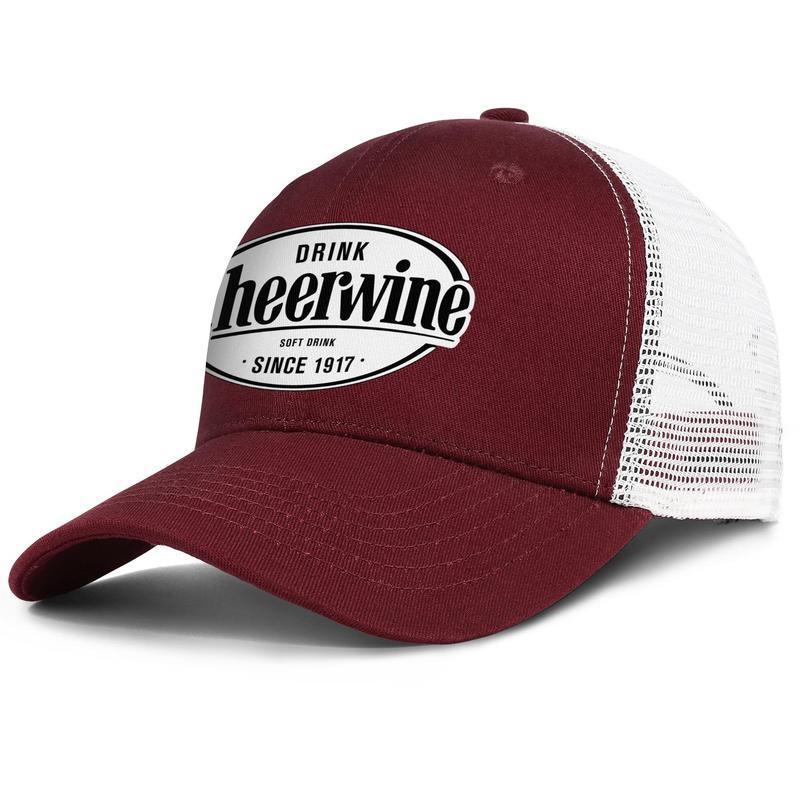 Cheerwine içecek erkek ve kadın ayarlanabilir kamyon şoförü meshcap donatılmış spor sevimli orijinal baseballhats şişeleme şirketi ekose baskı Eşcinsel