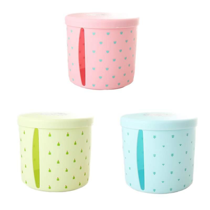 1pcs Removable Plastic Cute Tissue Box Holder Storage Organizer Round Toilet Bathroom Waterproof Paper Storage Rack Container