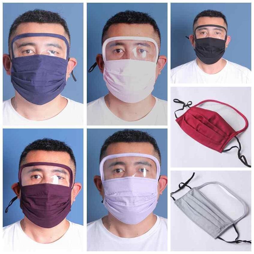 máscara de protecção face Escudo tampa máscara facial Cap Drool Unisex Anti Spitting Saliva com Limpar Máscara Facial dupla utilização
