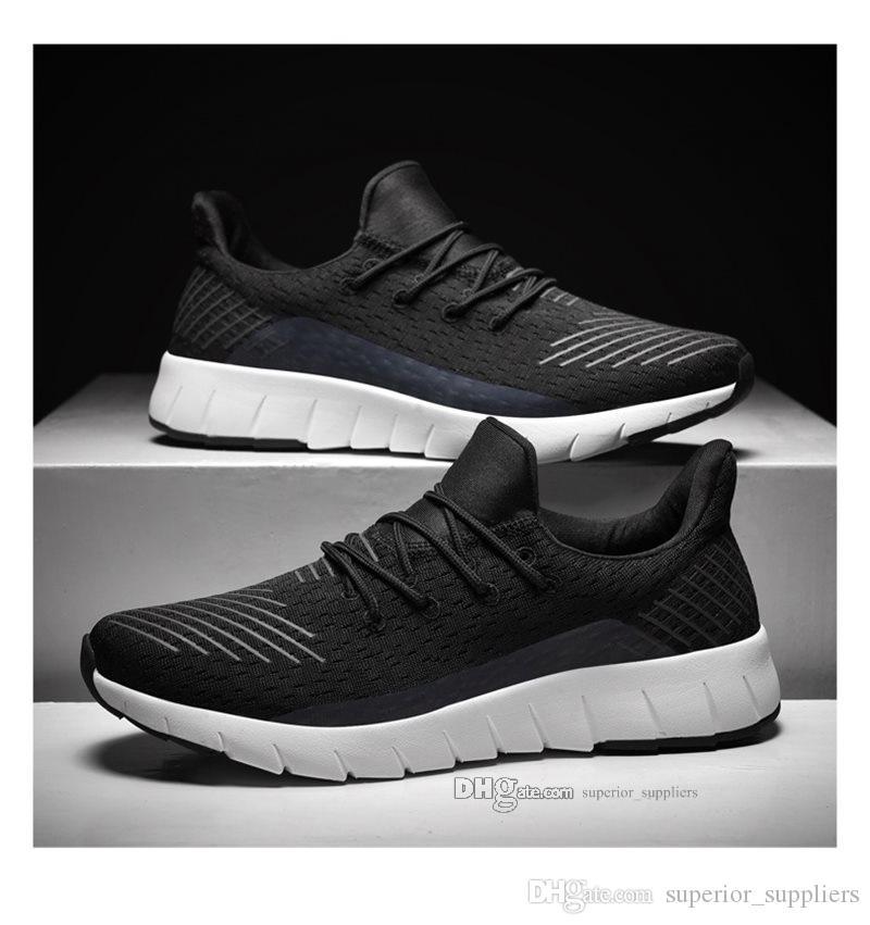 2020 Vente chaude Mode Hommes Chaussures Mesh respirant Chaussures Homme Chaussures Marche Nouveau Chaussures de course léger et confortable h202030200443-138