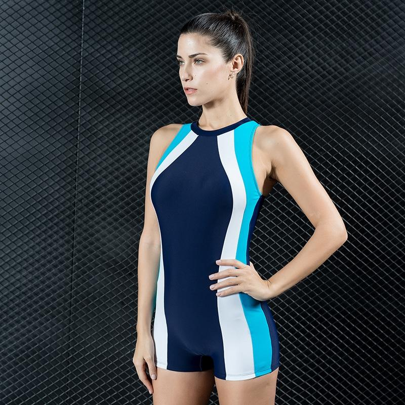 Swimwear nv yong yi one-piece color panel high elasticity Swimwear nv yong yi one-piece color panel swimsuit swimsuit high elasticity