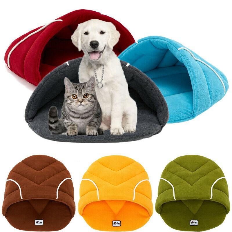 Pet Собака Кошка Котенок Пещера Ящик Теплая Кровать Дом Спальный Мешок Распродажа Теплая Зима Pet House