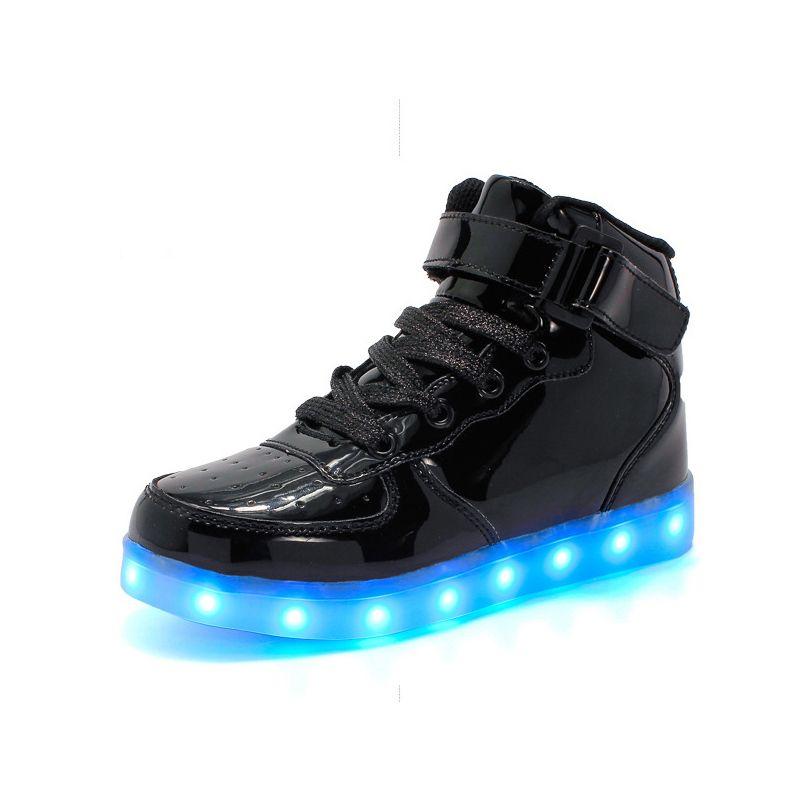 2020 Neue Schuhe für Kinder Illuminated Schuhe, rosa, gelb, weiß, blau und weise bequeme Größe 26-33 freies Verschiffen