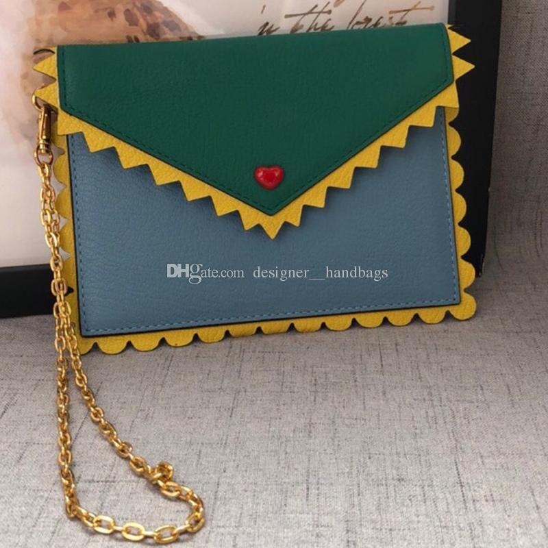 borse di lusso 19 nuovi dolci cuori stile caldo volant zig zag catena signora crossbody singoli sacchetti di spalla della borsa in vera pelle