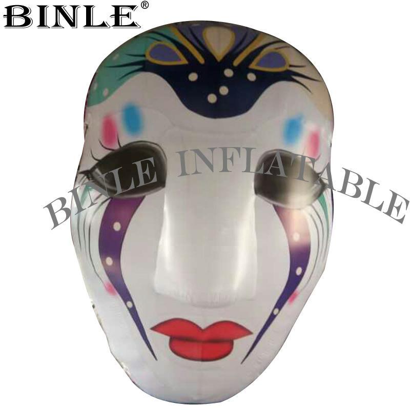 Горячая распродажа красивая надувная маска клоуна со светодиодной подсветкой для украшения реквизита Хэллоуина