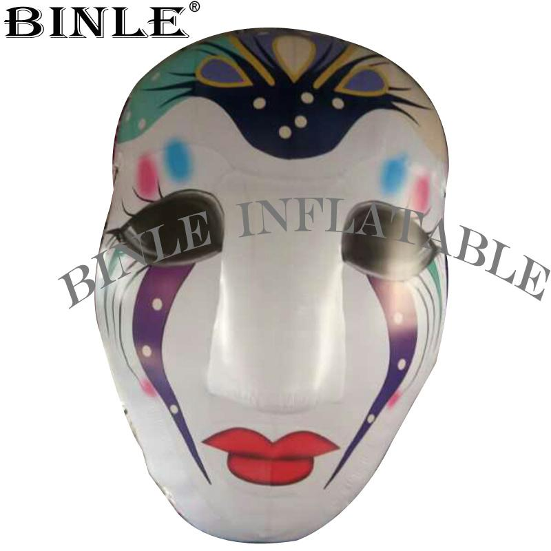 Vendita calda bella mascherina gonfiabile Clown con Per la luce del LED Halloween Party Props Decoration