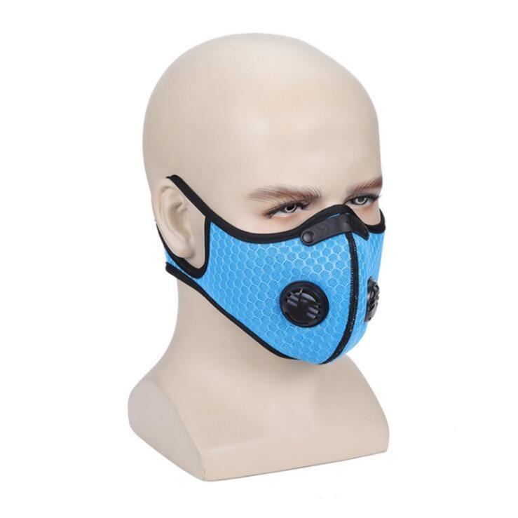 Carbon PM2,5 Anti-poussière Masque anti-poussière extérieur du vélo d'hiver coupe-vent Masque anti-poussière Hanging Designer oreilles Masque de capot HH9-3024