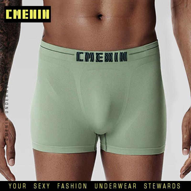 Chegada Nova respirável Sexy Men Underwear Boxer Shorts listrado Trunks Polyester Mens Cueca Underware Boxers engraçado CM001