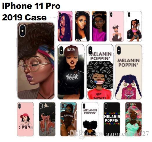 Designer de luxe MELANIN POPPIN Black Girl Personnalisé Photo Soft Clear TPU Téléphone Cas pour iPhone 11 Pro xi 2019 X XS MAX 6 6s 7 7plus 8 8 Plus XR