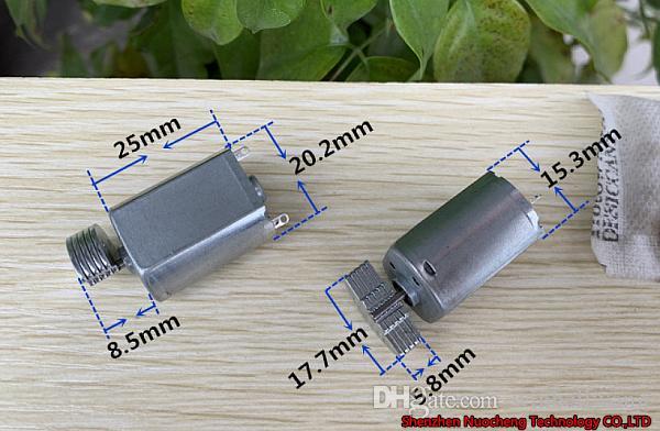 새로운 3V ~ 6V 진동 모터 130 강력한 진동을위한 마이크로 DC 모터 ~