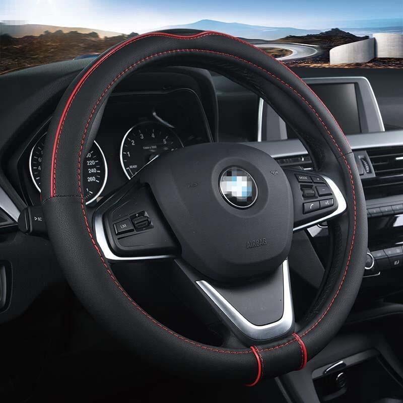 Faux cuir souple universel de voiture Housse de volant de voiture Styling Auto Sport Les Couvre volant anti-dérapant automobile Accessorie