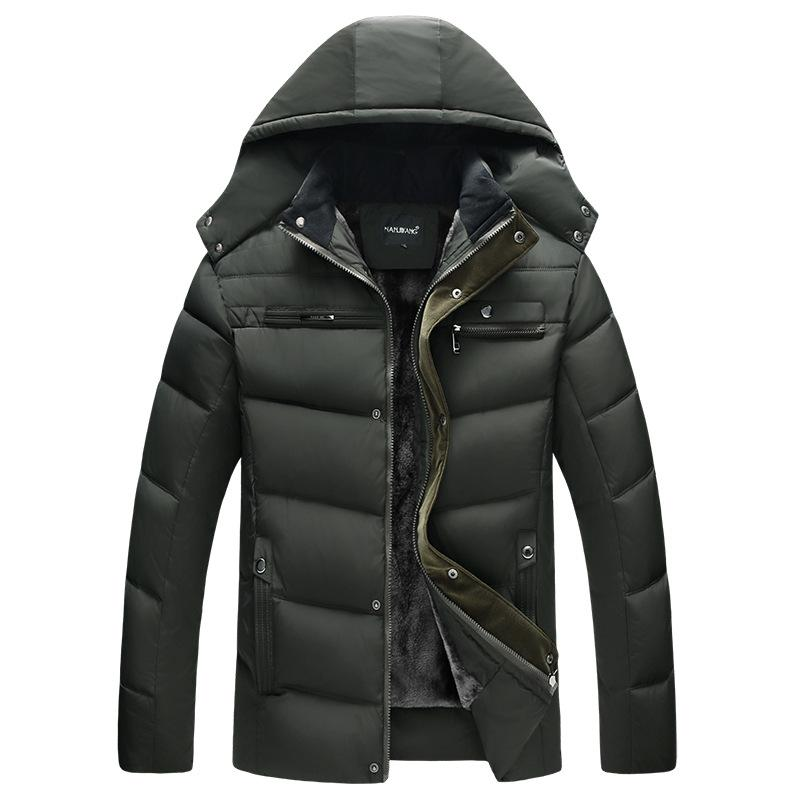 Men's Down & Parkas YZBZJC 2021 Man Parka Thicken Warm Jacket Casual Hooded Outwear Cotton Padded Coats Winter Windbreakers Clothings Men