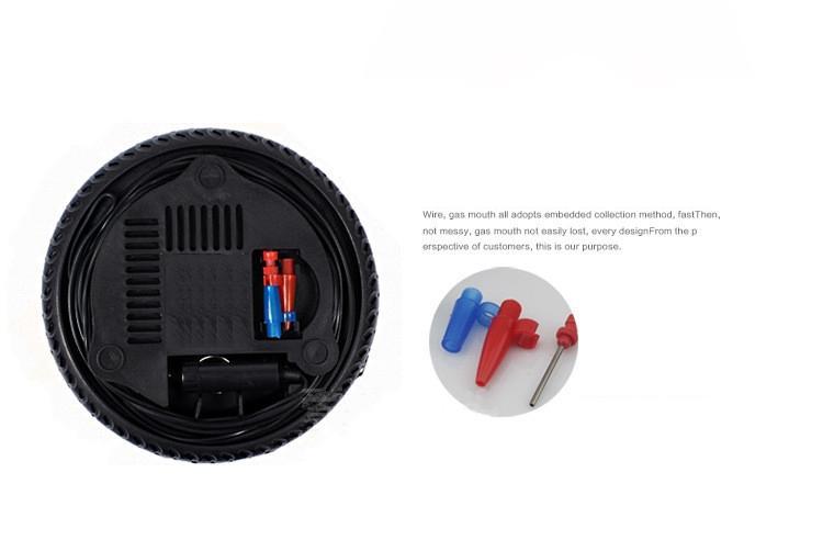 Upgrade Mini Portable Electric Air Compressor Pump Car Tire Inflator Pump Tool 12V 260PSI FP9 EEA431