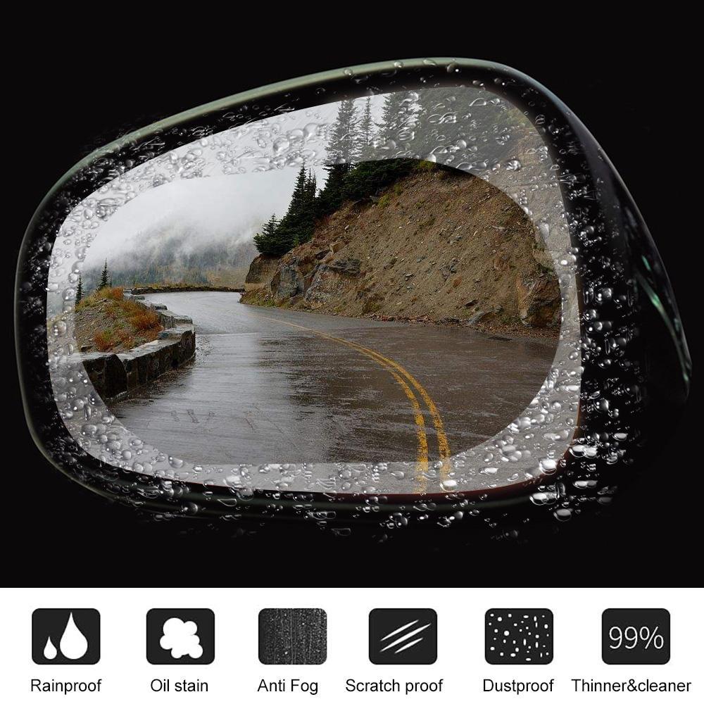 2шт автомобиль зеркало заднего вида защитная пленка анти туман окно ясно непромокаемый зеркало заднего вида защитная мягкая пленка