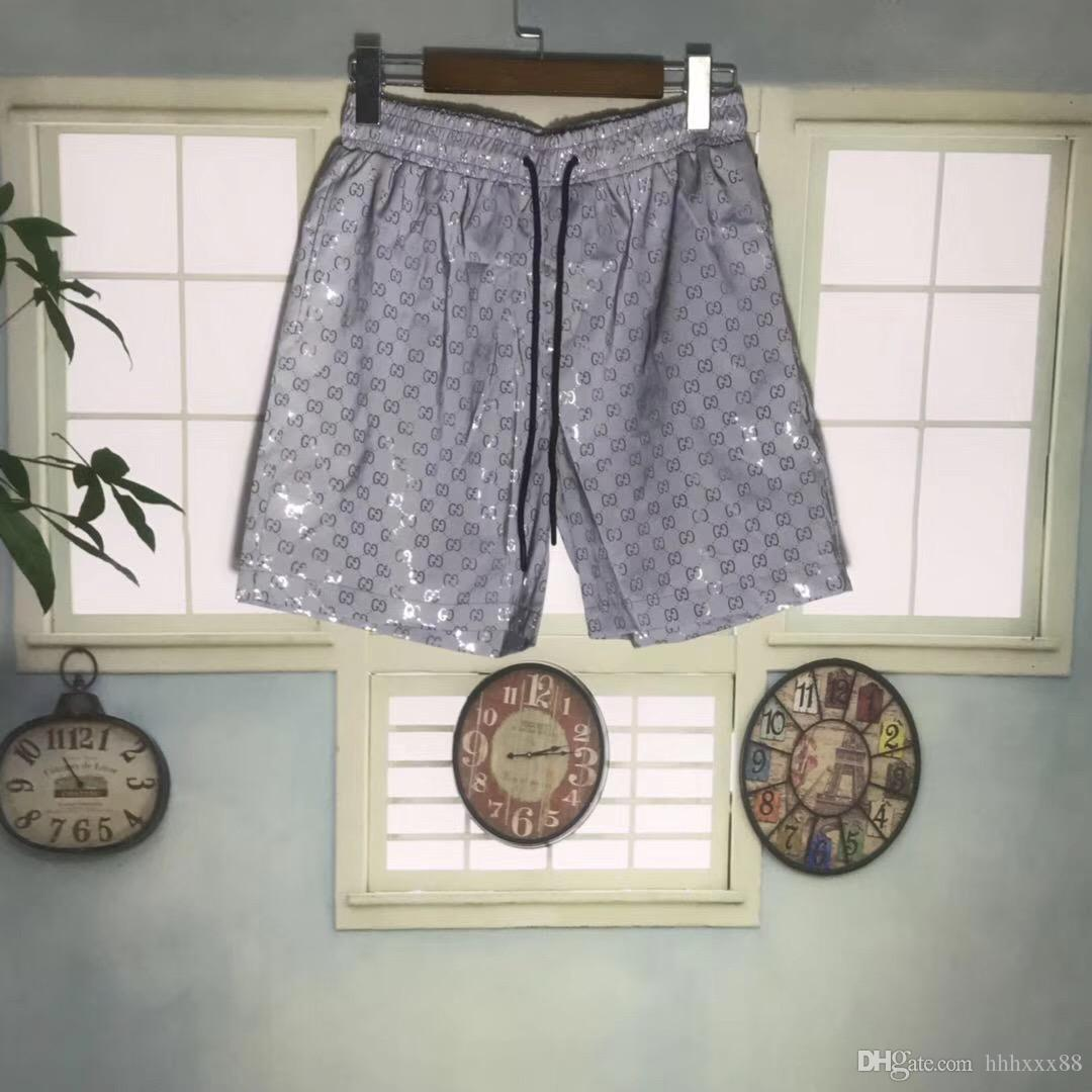 calções de impressão tubarão verão calções de praia de luxo calças de marca de alta qualidade dos homens aa888 calções de moda masculina da marca dos homens