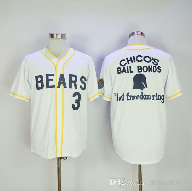 Top Quality hip-hop street Men's Bad News Bears # 12 Tanner Boyle # 3 Kelly Leak Baseball Jersey cucito numeri ricamo trasporto di goccia