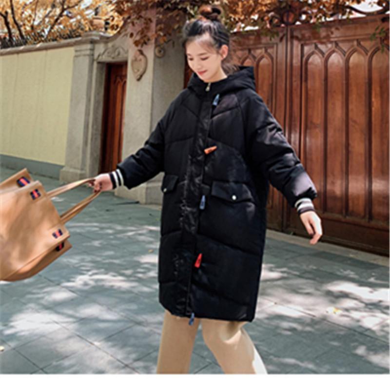 Longue à capuchon en vrac Épaississement solide Manteau populaire de haute qualité Veste d'hiver Outwear Parka chaud Casual Casaco Pardessus Mode
