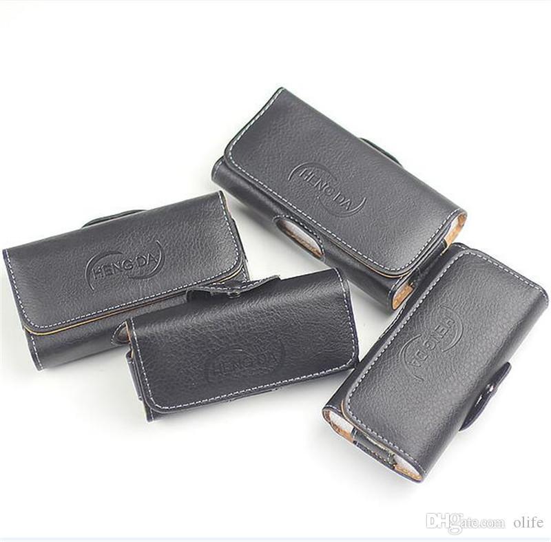 Portefeuille universel PU cuir horizontal holster holster téléphone couverture sac de taille avec clip de ceinture pour iPhone x xs max xr 8 7 6 plus cadeau dhl