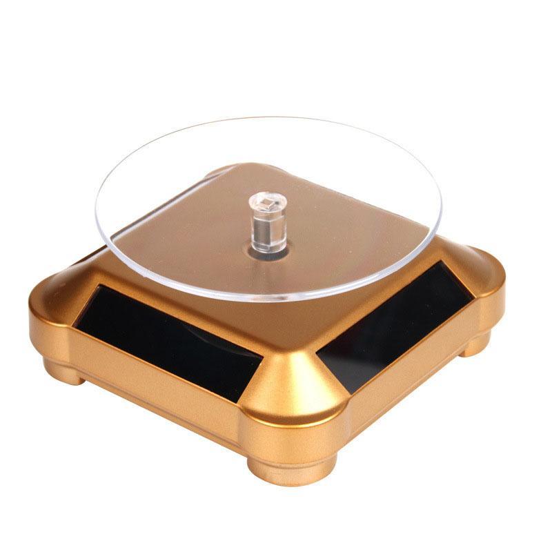 Solar Showcase 360 Automatic Rotating Turntable Jewelry Organizer Colar Bracelet Watch Phone Display Stand JL
