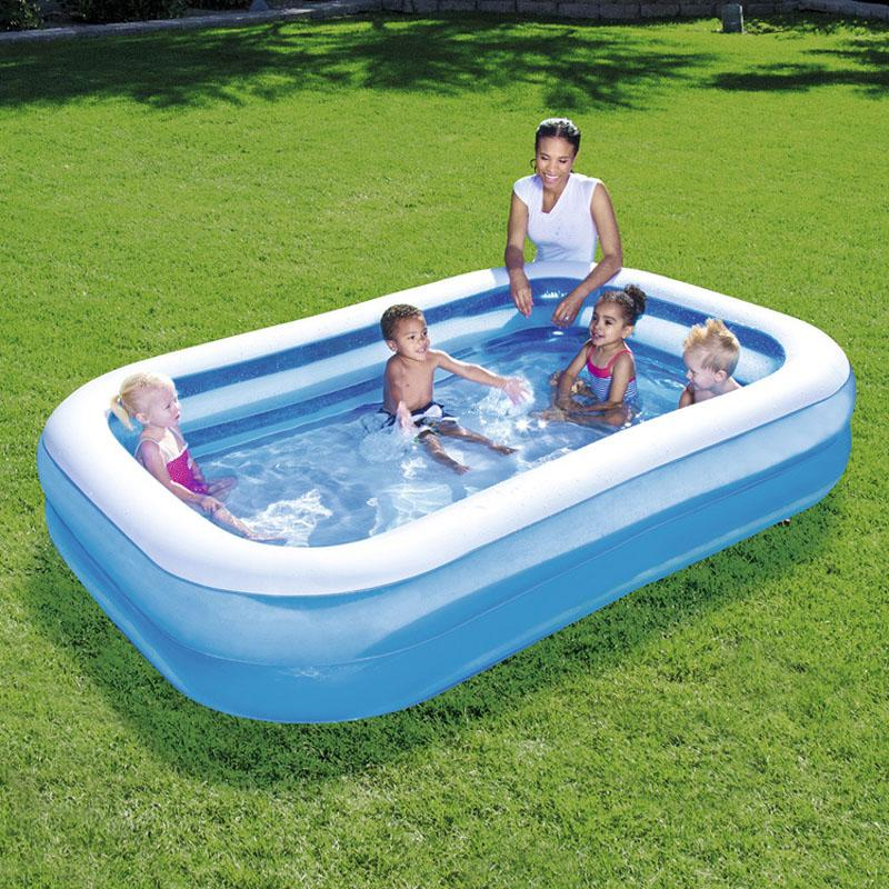 2019 Bestway 262*175*51CM Family Inflatable Swimming Pool Infant Paddling  Pool Children\'S Ocean Ball Foldable Tub With Pump From Neyei, $137.46 | ...