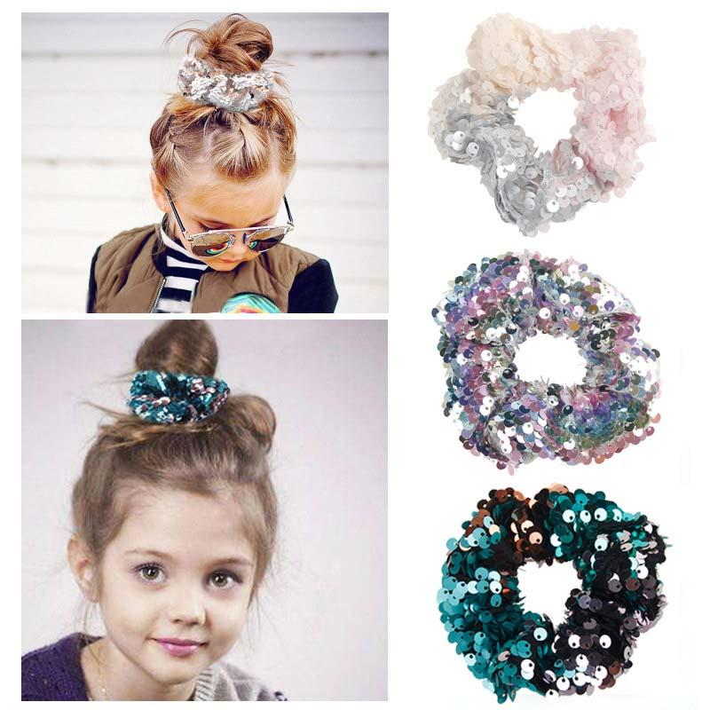 Fashion Ins The Mermaid Sequin Bambini Hairbands Fashion Adult Hairbands Girls Capel Band Bambini Capelli Corda per capelli Anello per capelli Accessori A1700