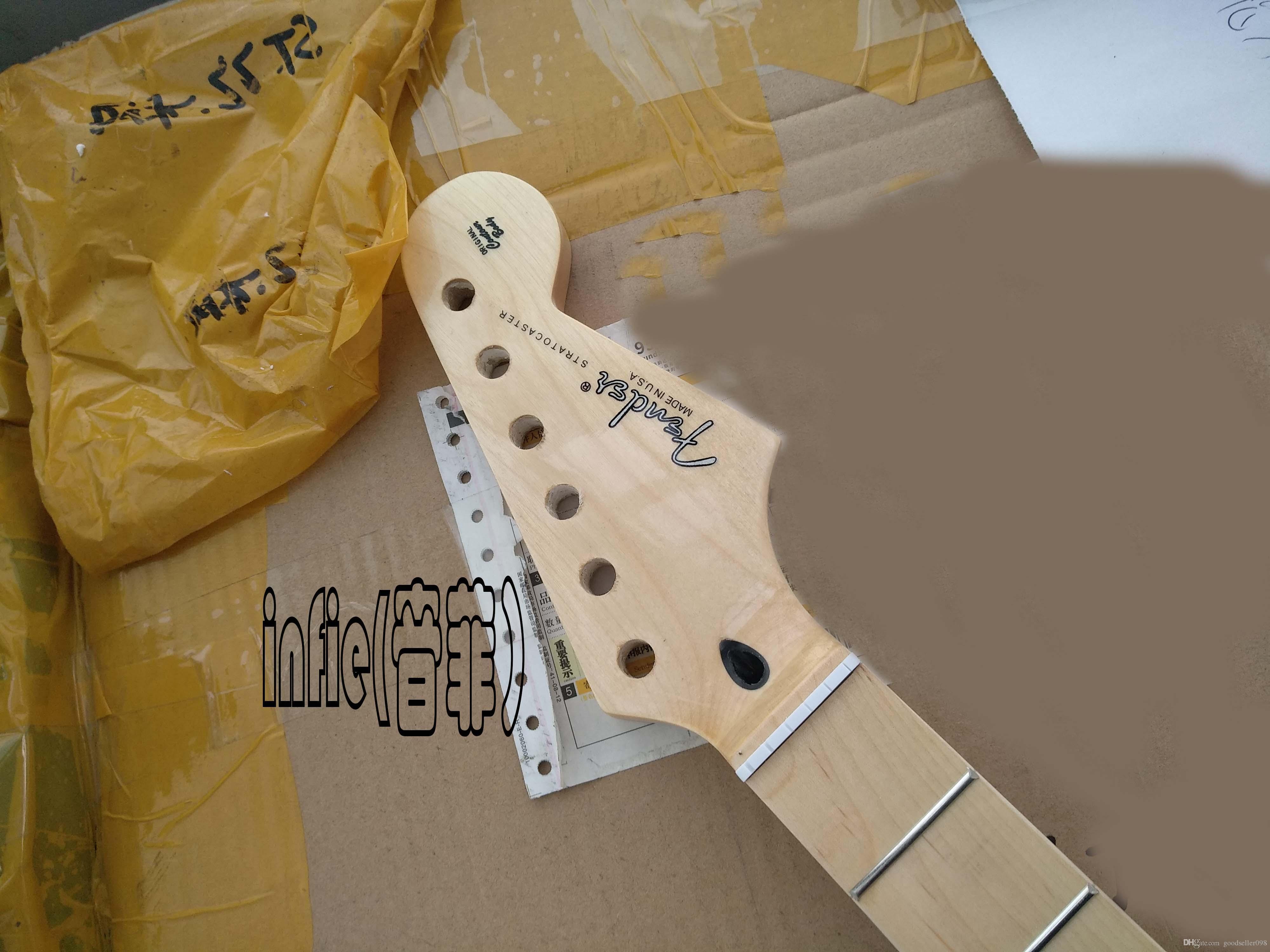 جديد الغيتار الكهربائي 21 22 القيقب ستراتوكاستر fingerplate الورنيش بعد الرقبة حزام الغيتار في الأوراق المالية
