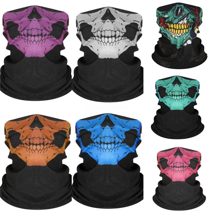 9V3La Headwear Envoltório principal Neck Gaiter Magia cachecol crânio da máscara do tubo para o esporte Balaclava Bandana Skull Scarf Headband Tafilete face Caminhadas C # 454
