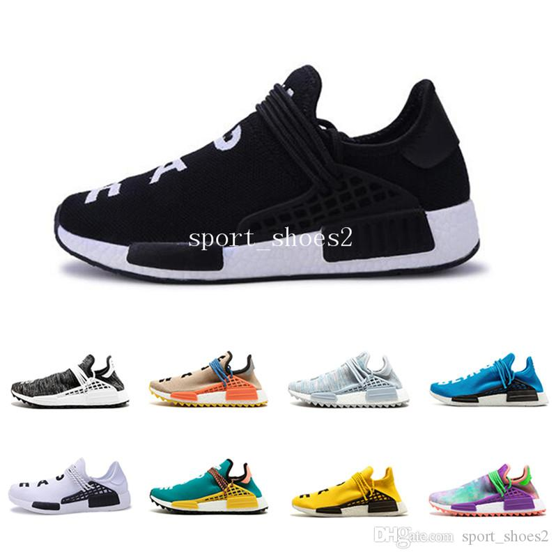 Barato Human Race Afro Hu Solar Pack Sneaker NERD Homecoming Running shoes Hu trail holi Hombres Mujeres entrenador Deportes Calzado deportivo talla 5-11 r2