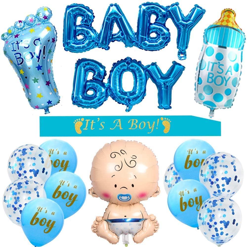 Ballons des décorations pour baby shower de garçon garçon Sash bébé garçon Ballons Foil Grande bouteille de ballon de bébé