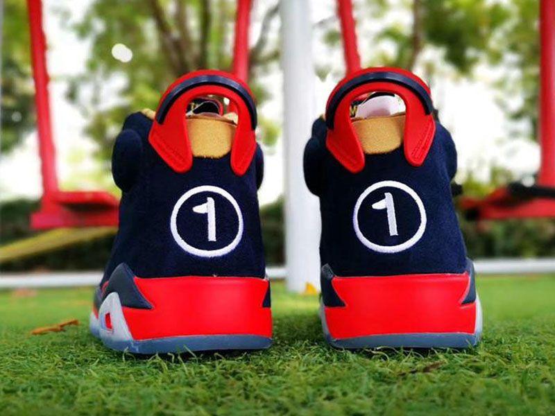 2019 جديد 6 السادس db doernbecher منخفضة الرجال أحذية كرة السلة 6 ثانية المدربين الرياضة الأزرق الداكن أحذية رياضية في أعلى جودة