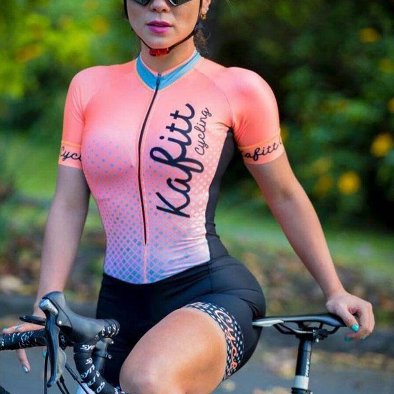 Skinsuit bisiklet 2019 profesyonel ekibi kadınlar Triatlon takım Jersey Giyim uzun kollu seti ge bisiklet Maillot'u tulum