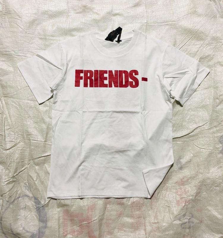 2019 Nueva Vlone Amigos monopatín camiseta cadera Hombres Mujeres Blanco Rojo Hop de manga corta para hombre Vlone estilista t shirt camiseta