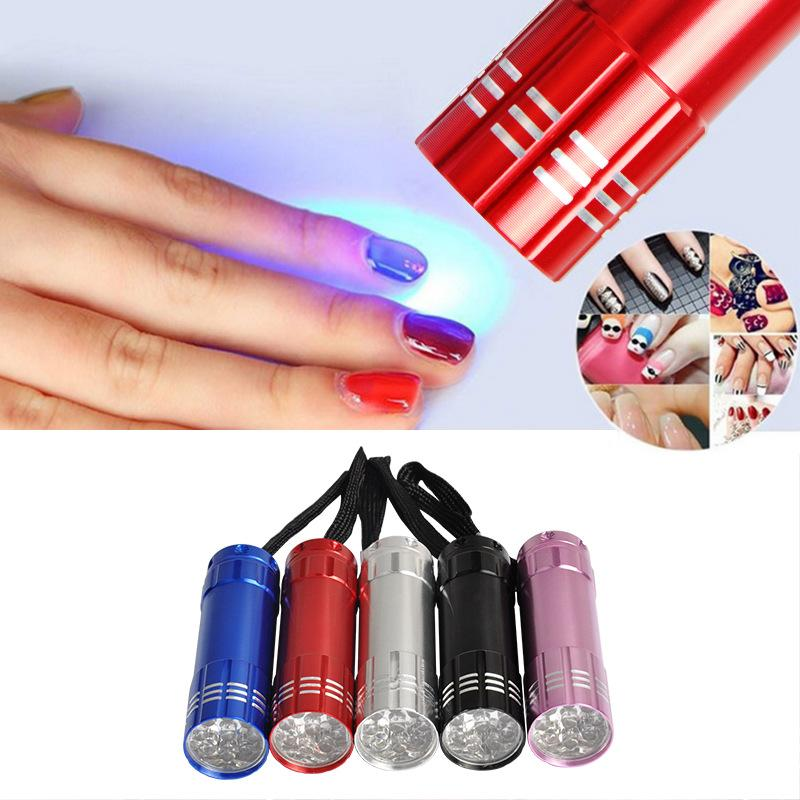 Mini nail flashlight 9led nail glue phototherapy lamp nail LED small baking lamp 30 seconds dryer wholesale