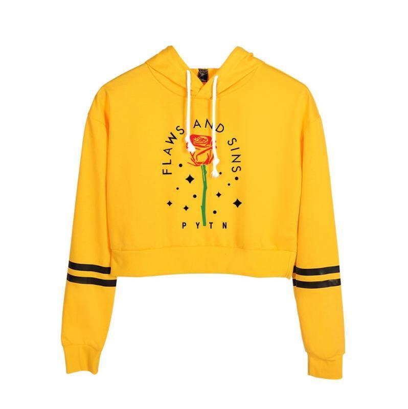 Payton Moormeier Hoodie Harf Gül Baskı Kapüşonlular Eğilimleri Ürünleri 2020 Crop Kazak Tişörtü Pateon Ürün Ek Streetwear Tops