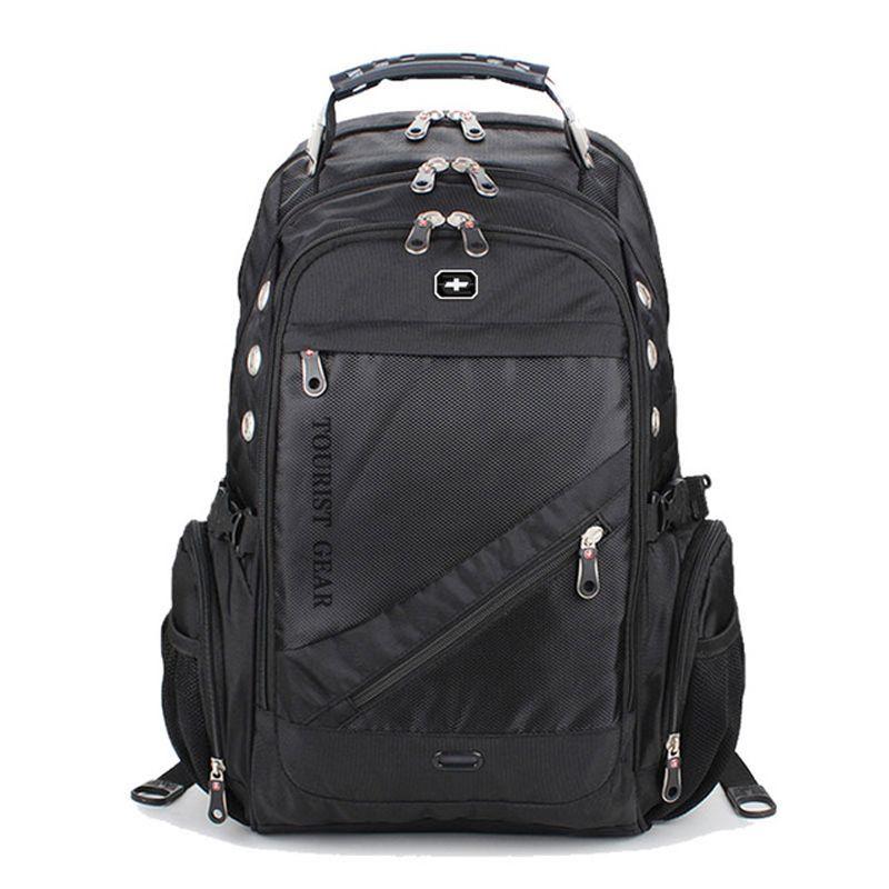Moda Laptop compartimento Backpack Triplo Negócios Mochila encaixa 15 polegadas Laptop, Saco College School frete grátis
