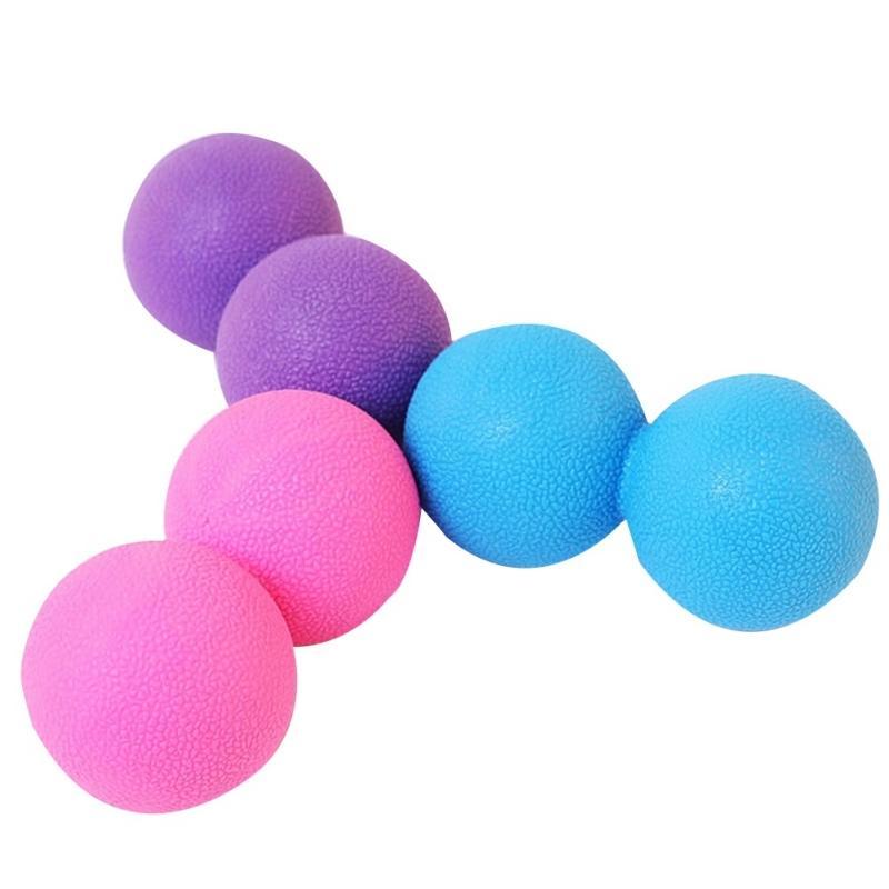 Nouvelle arachide Lacrosse Massage Double Balles TPE Sécurité Non toxique Skin Therapy Muscle Tension Release Massager Balls Fitness