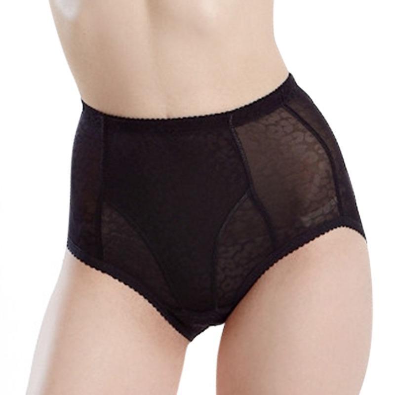 Frauen-Dame-reizvolle Wäsche aufgefüllte Unterwäsche-Körper-Former-Kolben-Hüfte-Up Höschen Transgender Shapewear Panty Schwarz