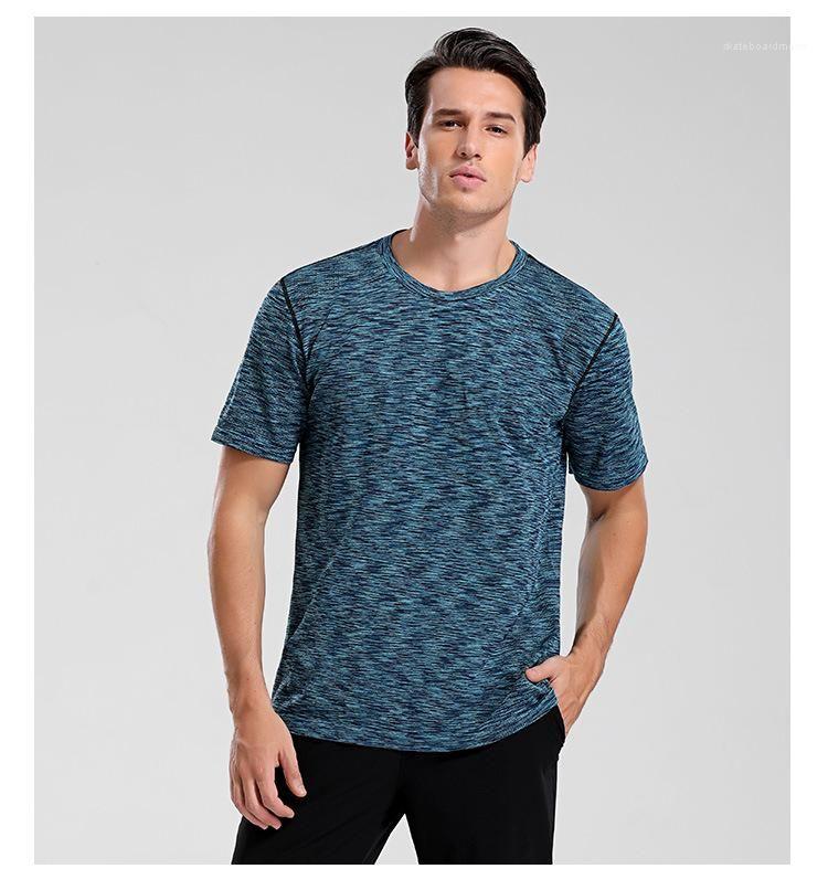 Фитнес мужские летние топы Tees Follow quck сушка сплошной цвет спортивные самцы дизайнер тонкие дышащие футболки FCWEX