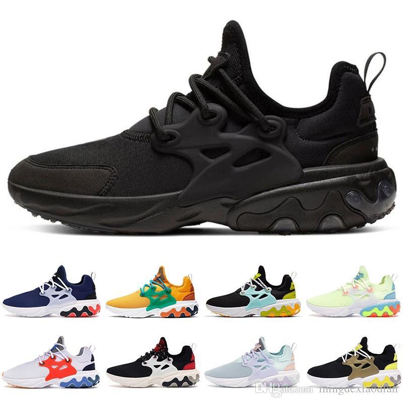 Nike Hot Presto React hommes femmes Chaussures de course DHARMA Triple Noir Volt Hyper peine royal Outdoor mens taille de sports formateurs 36-45