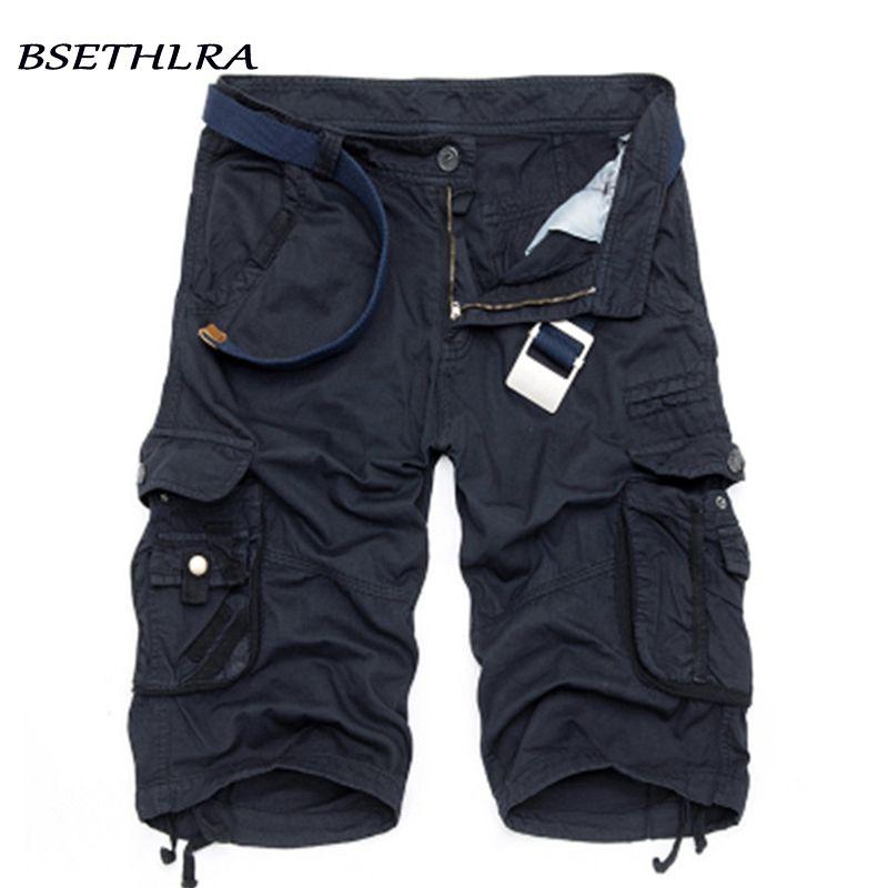 Bsethlra 2019 nuovi uomini vendita calda di estate lavoro a breve pantaloni mimetici militari marchio di abbigliamento Moda Uomo Cargo Shorts 29-40 C19040101