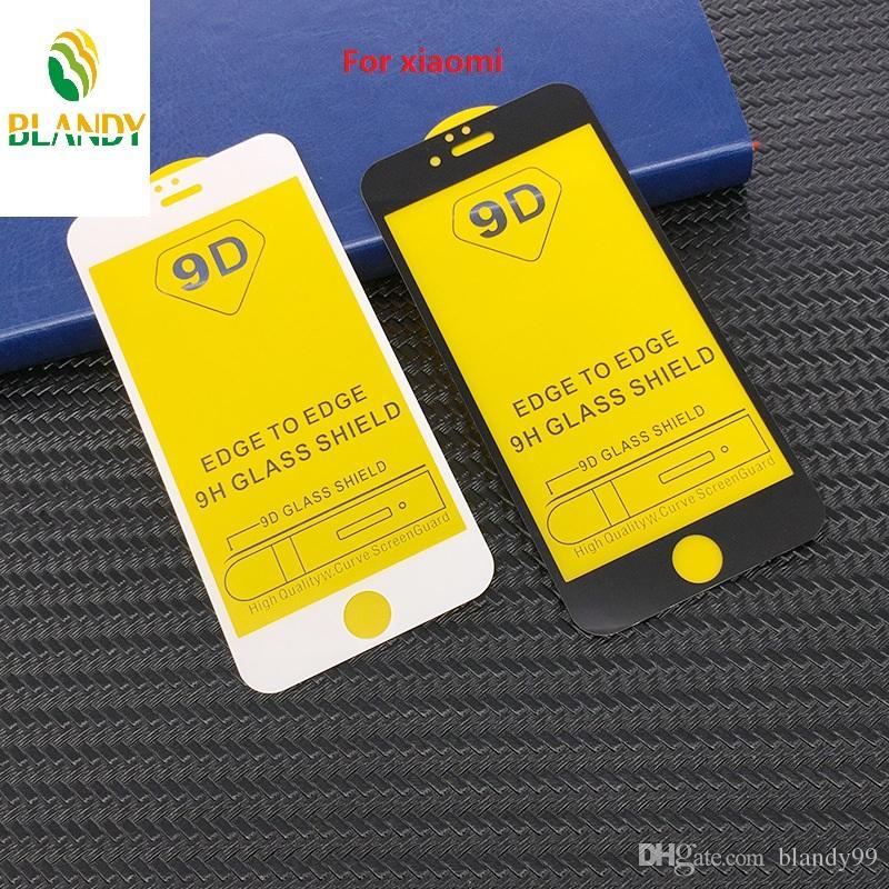 9D غطاء كامل شاشة الزجاج المقسى حامي الفيلم ل xiaomi a2 redmi note 6 8 برو لايت pocophone f1 ماكس مزيج 3