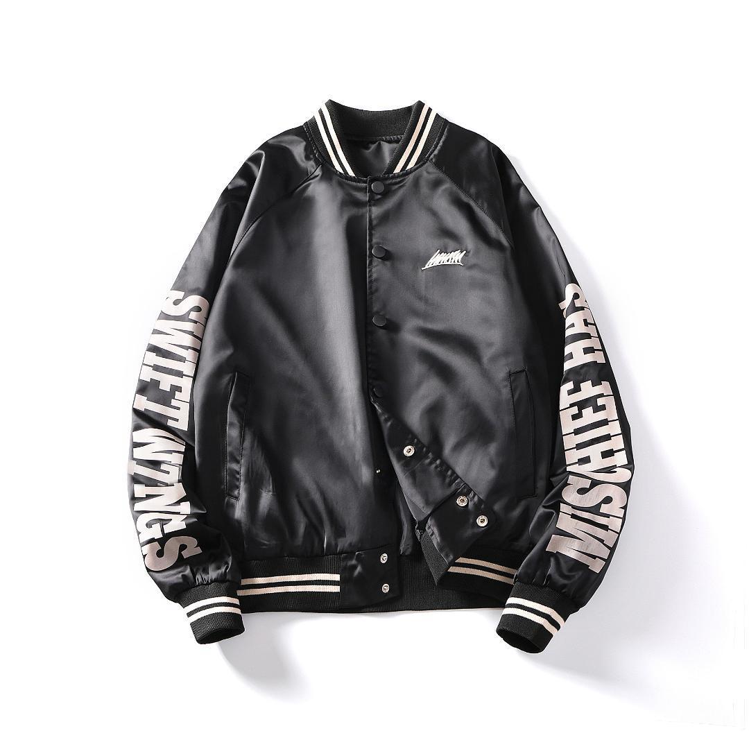 2019 Bomberjacke Herrenmode Hip Hop Streetwear Jacke Herren Mantel Briefdruck Mantel Plus Größe M-5XL