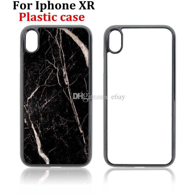 For Iphone XR DIY 2D Sublimation Cases Heat Press PC Case With Blank Metal Aluminium Plates DHL Free Shipping