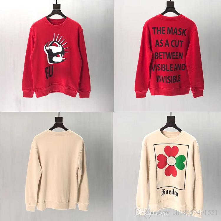 HOT 스웨터 긴 소매 여성 T 셔츠 남성 화이트 블랙 후드 명품 의류 남여 스웨터 패션 브랜드 톱 가을 봄 S-XL