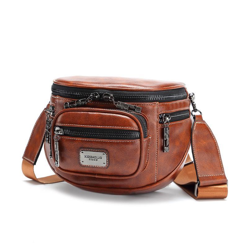 Nouveau Grand Sac de Crossbody cuir imperméable pour femme sac en cuir synthétique de haute capacité Affaires Loisirs Homme Sac à bandoulière