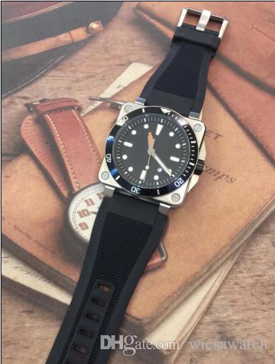 Ao ar livre BR 03072 Mergulhador Mens Automatic Edição Limitada Mecânica Relógio de Aviação Dos Homens Do Esporte Relógios Com Banda De Borracha Preta