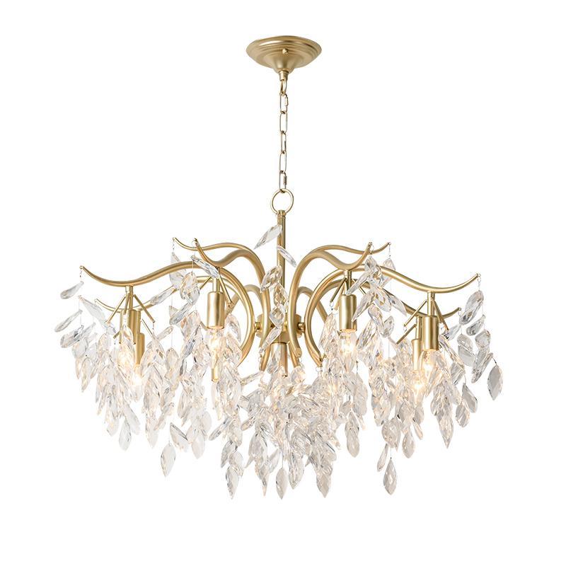 Moderna Gold Metal lampadario di cristallo di lusso Decor Creative Hotel salone della casa di sospensione della lampada di arte Light Fixture PA0630