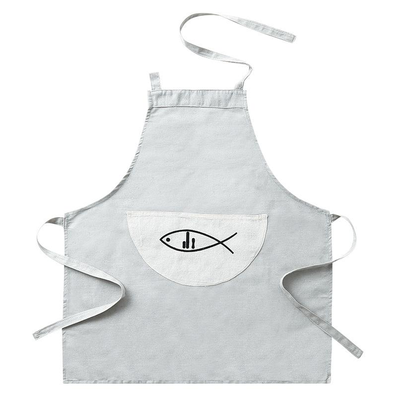 Cooking Apron Brief Novelty Fish Bbq Party Aprons For