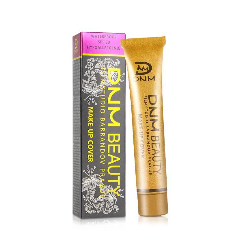 Маленькая золотая трубка маскирующее покрытие от прыщей темные круги веснушки основа для макияжа жидкая основа 30мл 14 цветов